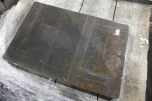 厚板材納入状態