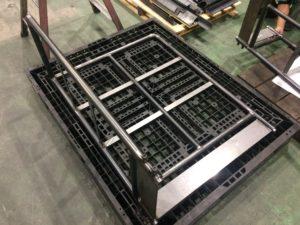 大型産業機械の手すり部品