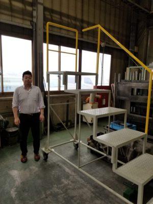 産業機械向け 大型作業階段