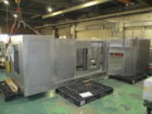 大型3段引き戸付き専用工作機械カバー